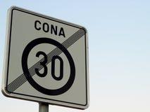 Señal de tráfico de camino Imagen de archivo libre de regalías