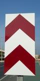 Señal de tráfico de Chevron foto de archivo libre de regalías