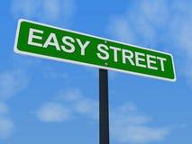 Señal de tráfico de Easy Street Imágenes de archivo libres de regalías