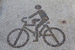 Señal de tráfico de la bicicleta Imagen de archivo libre de regalías