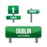 Señal de tráfico de la ciudad de Dublín Imagen de archivo libre de regalías