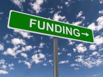 Señal de tráfico de la financiación Fotografía de archivo libre de regalías