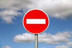 Señal de tráfico de la prohibición Fotos de archivo libres de regalías