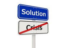 Señal de tráfico de la solución Imagenes de archivo