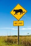 Señal de tráfico de la travesía del puma Foto de archivo