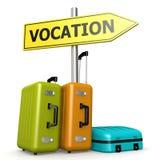 Señal de tráfico de la vocación con equipajes ilustración del vector