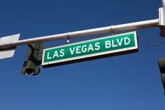 Señal de tráfico de Las Vegas Blvd imagen de archivo libre de regalías