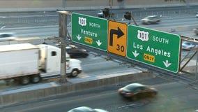 Señal de tráfico de Los Ángeles - lapso de tiempo metrajes