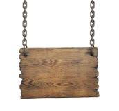 Señal de tráfico de madera aislada en el fondo blanco Fotos de archivo libres de regalías