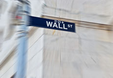 Señal de tráfico de Wall Street fotos de archivo