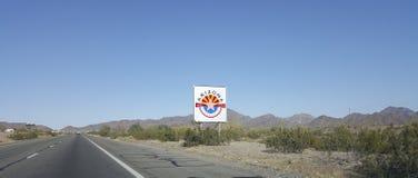 Señal de tráfico del Centennial de Arizona fotografía de archivo libre de regalías
