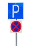 Señal de tráfico del estacionamiento Imágenes de archivo libres de regalías