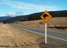 Señal de tráfico del kiwi Fotos de archivo