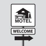 Señal de tráfico del motel Fotografía de archivo