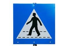 Señal de tráfico del paso de peatones Imágenes de archivo libres de regalías
