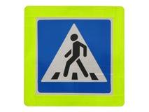 Señal de tráfico del paso de peatones Imagen de archivo libre de regalías