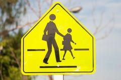 Señal de tráfico del paso de peatones Fotografía de archivo
