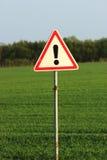 Señal de tráfico del peligro Foto de archivo