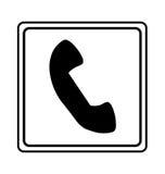 señal de tráfico del servicio de teléfono Imágenes de archivo libres de regalías