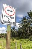 Señal de tráfico del tráfico en Costa Rica Fotografía de archivo libre de regalías