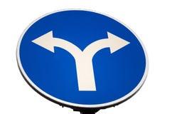 Señal de tráfico direccional Imagenes de archivo