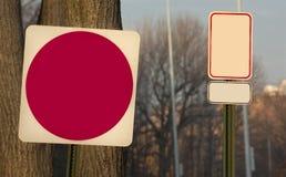 Señal de tráfico en blanco Fotografía de archivo libre de regalías