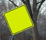 Señal de tráfico en blanco Imágenes de archivo libres de regalías