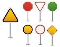 Señal de tráfico en blanco Imagen de archivo libre de regalías