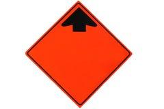 Señal de tráfico en blanco Fotos de archivo