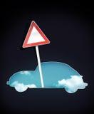 Señal de tráfico en blanco stock de ilustración