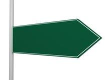 Señal de tráfico en blanco de la flecha derecha Imagen de archivo