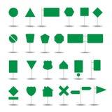 Señal de tráfico en diverso vector del paquete de la colección de las formas fotografía de archivo libre de regalías
