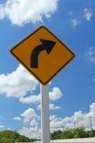 Señal de tráfico en el camino Foto de archivo libre de regalías
