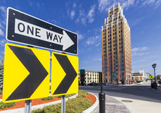 Señal de tráfico en Niágara Foto de archivo libre de regalías