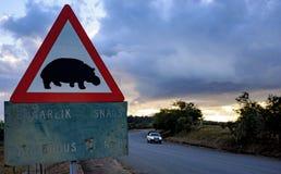Señal de tráfico en Suráfrica Imagenes de archivo