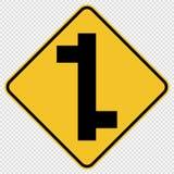 señal de tráfico escalonada símbolo del tráfico del empalme en fondo transparente libre illustration