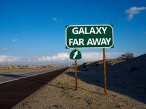 Señal de tráfico de la salida del camino del SciFi Imagen de archivo libre de regalías
