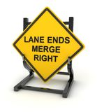 Señal de tráfico - los extremos del carril se combinan a la derecha libre illustration