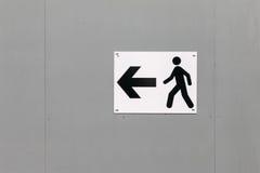 Señal de tráfico: Manera de peatones Fotografía de archivo libre de regalías