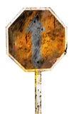 Señal de tráfico oxidada Fotos de archivo libres de regalías