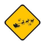 Señal de tráfico Papá Noel stock de ilustración