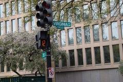 Señal de tráfico para Virginia Ave En Washington DC foto de archivo