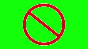 Señal de tráfico prohibida roja