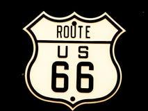 Señal de tráfico Route66 Fotografía de archivo