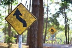 Señal de tráfico sucia Imagen de archivo