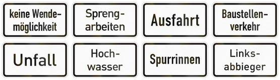 Señal de tráfico suplementaria alemana - ningún torneado posible libre illustration