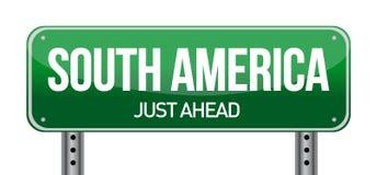 Señal de tráfico a Suramérica Foto de archivo libre de regalías