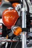 Señal de vuelta de la motocicleta Imagen de archivo libre de regalías