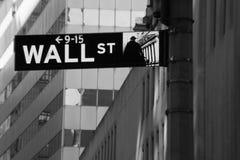 Señal de Wall Street Foto de archivo