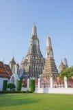 Señal del aroon de Wat de Bangkok Tailandia Fotografía de archivo